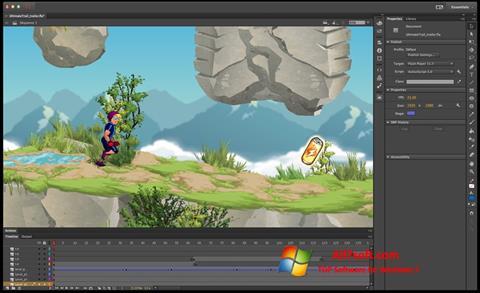 Screenshot Adobe Flash Professional Windows 7