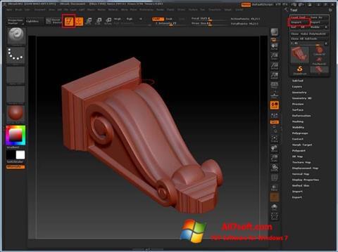 Screenshot ZBrush Windows 7