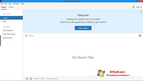 Screenshot Adobe Acrobat Pro Windows 7