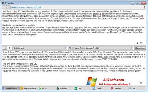 Screenshot QTranslate Windows 7