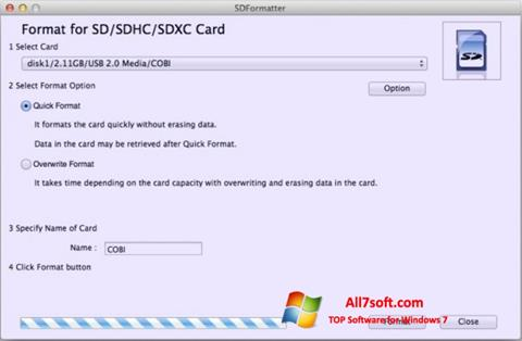 Screenshot SDFormatter Windows 7