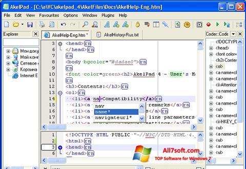 Screenshot AkelPad Windows 7