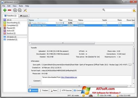 Screenshot qBittorrent Windows 7