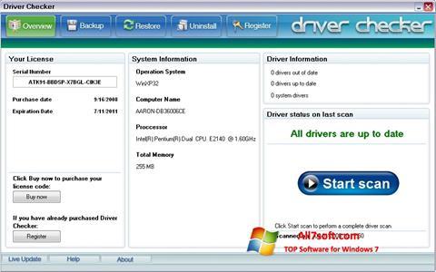Screenshot Driver Checker Windows 7