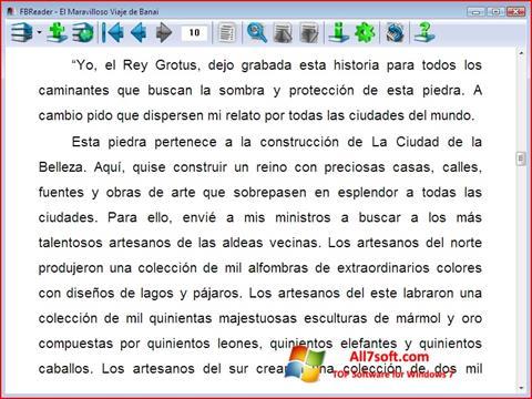 Screenshot FBReader Windows 7