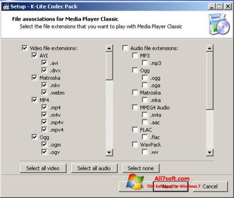 Screenshot K-Lite Codec Pack Windows 7