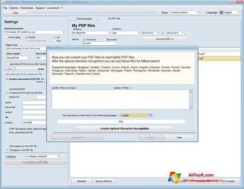 Screenshot Scan2PDF Windows 7