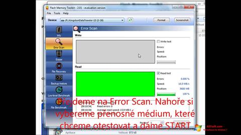Screenshot Flash Memory Toolkit Windows 7