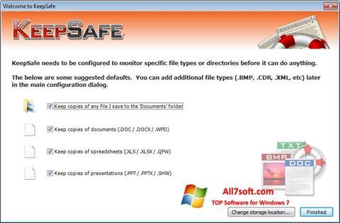 Screenshot KeepSafe Windows 7