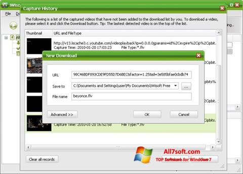 Screenshot Free Video Catcher Windows 7