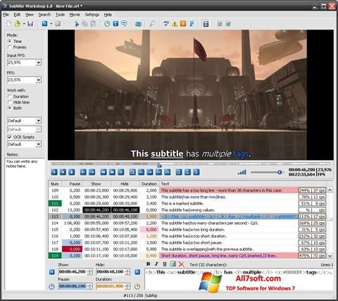 Screenshot Subtitle Workshop Windows 7