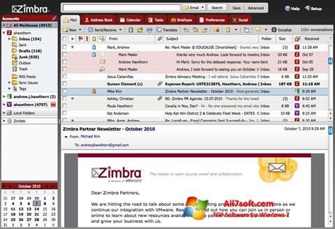 Screenshot Zimbra Desktop Windows 7