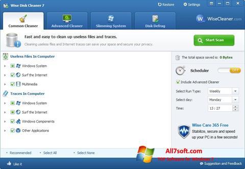 Screenshot Wise Disk Cleaner Windows 7