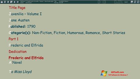 Screenshot ICE Book Reader Windows 7
