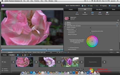 Screenshot Adobe Premiere Elements Windows 7