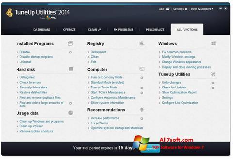 Screenshot TuneUp Utilities Windows 7