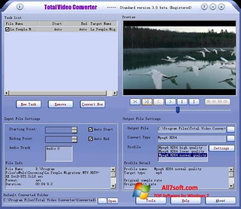 Screenshot Total Video Converter Windows 7
