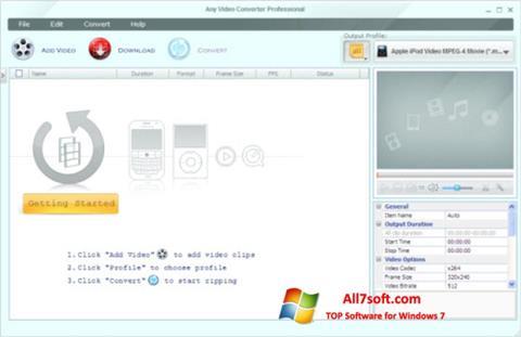 Screenshot Any Video Converter Windows 7
