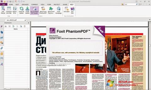 Screenshot Foxit Phantom Windows 7