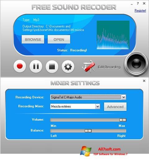 Screenshot Free Sound Recorder Windows 7