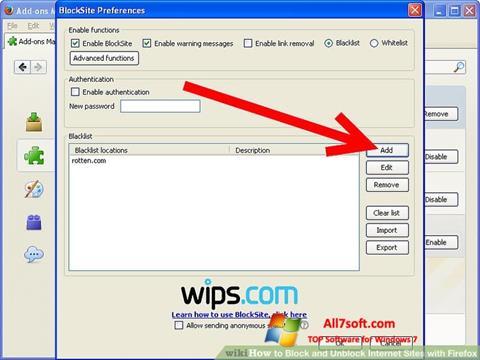 Screenshot uBlock Windows 7