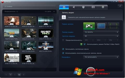 Screenshot Mirillis Action! Windows 7