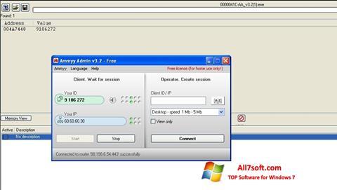 Screenshot Ammyy Admin Windows 7