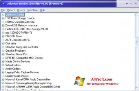 Screenshot Unknown Device Identifier Windows 7
