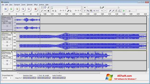 Screenshot Audacity Windows 7