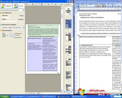 Screenshot ABBYY PDF Transformer Windows 7