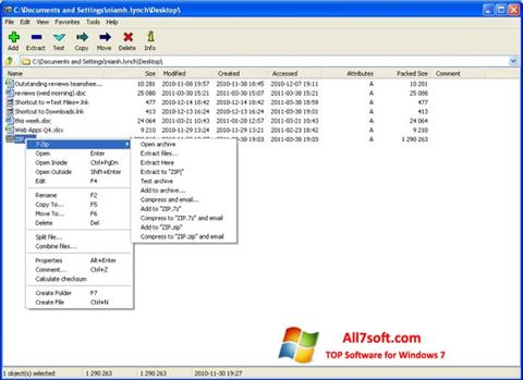 Screenshot 7-Zip Windows 7