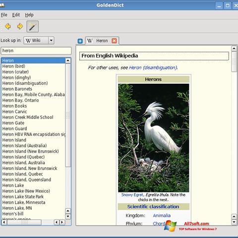 Screenshot GoldenDict Windows 7