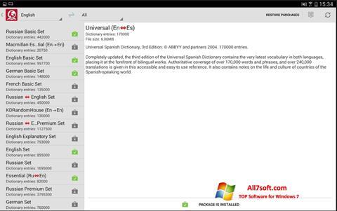 Screenshot ABBYY Lingvo Windows 7