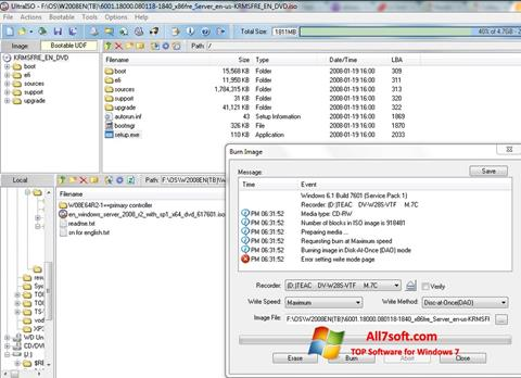 Screenshot UltraISO Windows 7