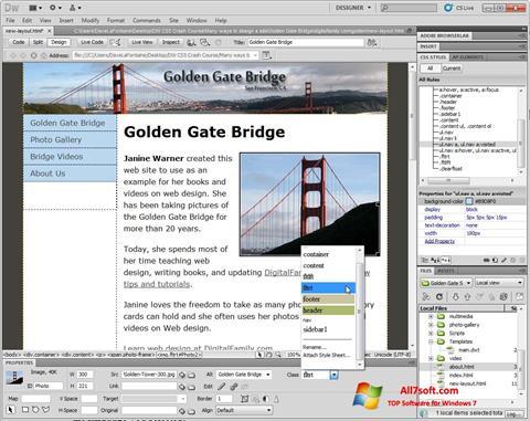 Screenshot Adobe Dreamweaver Windows 7