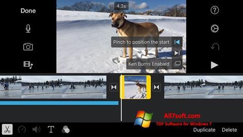Screenshot iMovie Windows 7