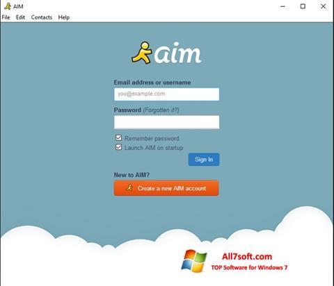 Screenshot AOL Instant Messenger Windows 7