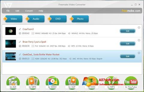 Screenshot Freemake Video Converter Windows 7