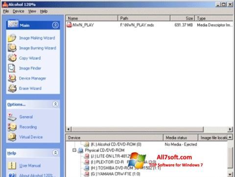Screenshot Alcohol 120% Windows 7