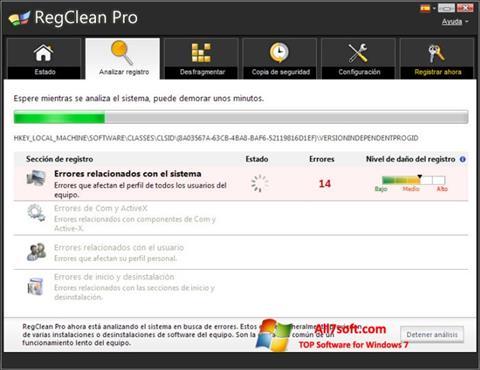 Screenshot RegClean Pro Windows 7