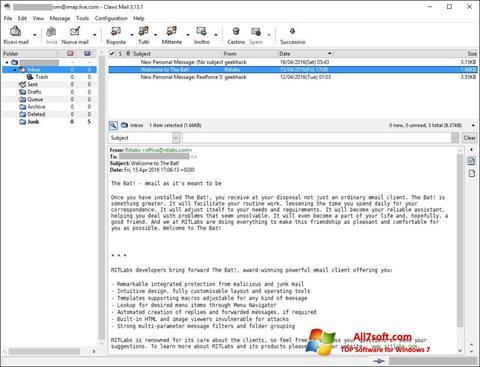 Screenshot Claws Mail Windows 7