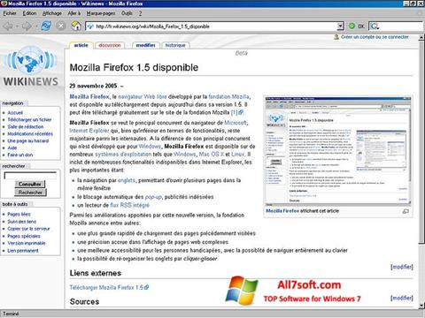 Screenshot Mozilla Firefox Windows 7