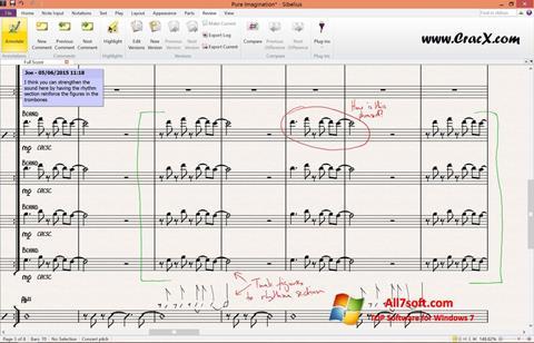 Screenshot Sibelius Windows 7