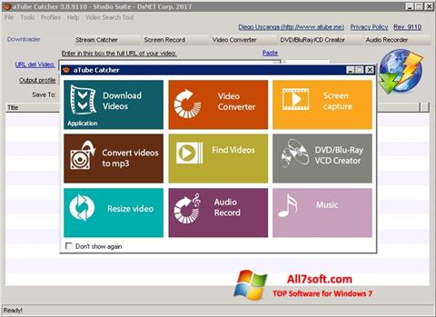 Screenshot aTube Catcher Windows 7