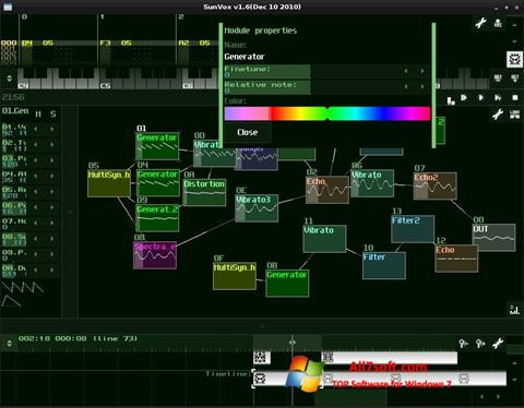 Screenshot SunVox Windows 7