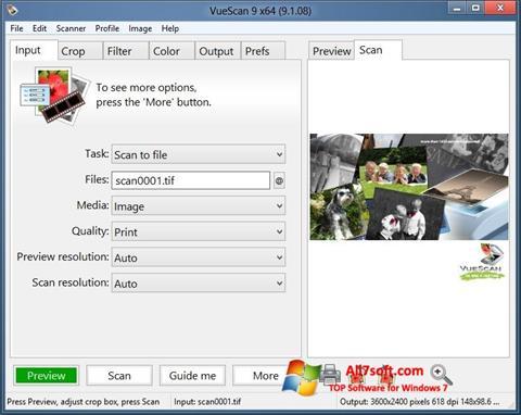 Screenshot VueScan Windows 7