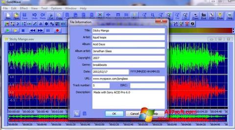 Screenshot GoldWave Windows 7