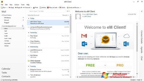 Screenshot eM Client Windows 7