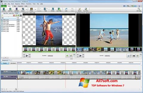 Screenshot VideoPad Video Editor Windows 7