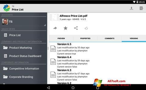 Screenshot Alfresco Windows 7